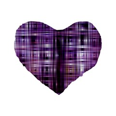Purple Wave Abstract Background Shades Of Purple Tightly Woven Standard 16  Premium Heart Shape Cushions by Simbadda