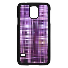 Purple Wave Abstract Background Shades Of Purple Tightly Woven Samsung Galaxy S5 Case (black)