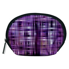 Purple Wave Abstract Background Shades Of Purple Tightly Woven Accessory Pouches (medium)  by Simbadda