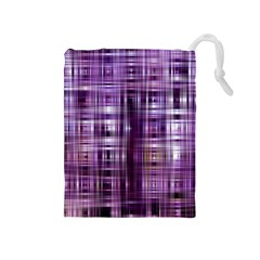 Purple Wave Abstract Background Shades Of Purple Tightly Woven Drawstring Pouches (medium)