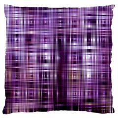 Purple Wave Abstract Background Shades Of Purple Tightly Woven Large Flano Cushion Case (one Side)