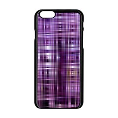 Purple Wave Abstract Background Shades Of Purple Tightly Woven Apple Iphone 6/6s Black Enamel Case
