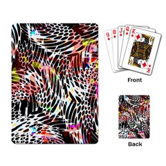 Abstract Composition Digital Processing Playing Card