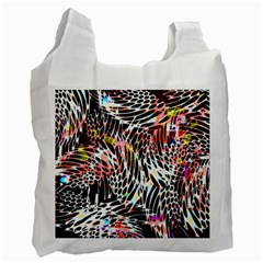 Abstract Composition Digital Processing Recycle Bag (one Side)