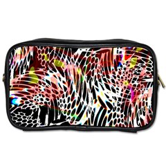 Abstract Composition Digital Processing Toiletries Bags 2 Side by Simbadda