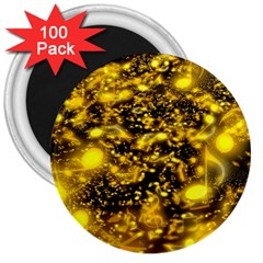 Vortex Glow Abstract Background 3  Magnets (100 Pack) by Simbadda