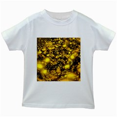 Vortex Glow Abstract Background Kids White T Shirts by Simbadda