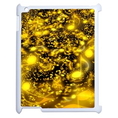 Vortex Glow Abstract Background Apple Ipad 2 Case (white) by Simbadda