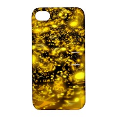 Vortex Glow Abstract Background Apple Iphone 4/4s Hardshell Case With Stand by Simbadda