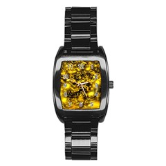 Vortex Glow Abstract Background Stainless Steel Barrel Watch by Simbadda