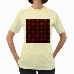 Abstract Dotted Pattern Elegant Background Women s Yellow T Shirt