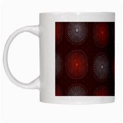 Abstract Dotted Pattern Elegant Background White Mugs
