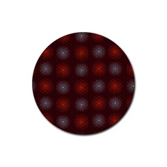 Abstract Dotted Pattern Elegant Background Rubber Coaster (round)  by Simbadda