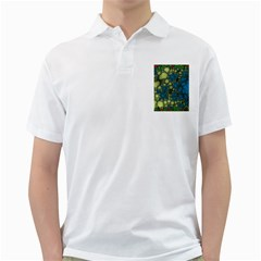Holly Frame With Stone Fractal Background Golf Shirts by Simbadda