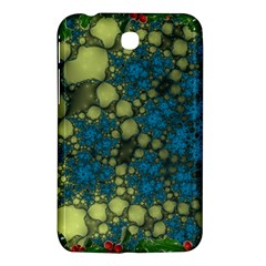 Holly Frame With Stone Fractal Background Samsung Galaxy Tab 3 (7 ) P3200 Hardshell Case  by Simbadda