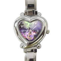 Wonderful Fairy In The Wonderland , Colorful Landscape Heart Italian Charm Watch by FantasyWorld7