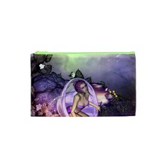 Wonderful Fairy In The Wonderland , Colorful Landscape Cosmetic Bag (xs) by FantasyWorld7
