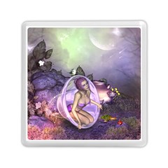 Wonderful Fairy In The Wonderland , Colorful Landscape Memory Card Reader (square)  by FantasyWorld7