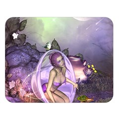 Wonderful Fairy In The Wonderland , Colorful Landscape Double Sided Flano Blanket (large)  by FantasyWorld7