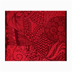 Deep Red Background Abstract Small Glasses Cloth (2 Side)