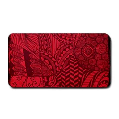Deep Red Background Abstract Medium Bar Mats by Simbadda