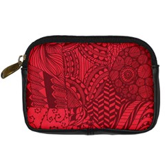 Deep Red Background Abstract Digital Camera Cases by Simbadda