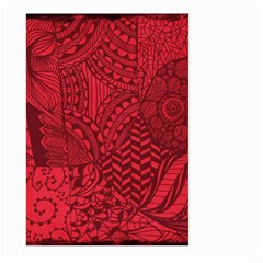 Deep Red Background Abstract Large Garden Flag (two Sides) by Simbadda