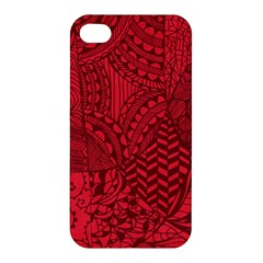 Deep Red Background Abstract Apple Iphone 4/4s Premium Hardshell Case