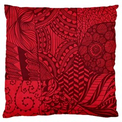 Deep Red Background Abstract Large Cushion Case (two Sides) by Simbadda