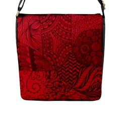 Deep Red Background Abstract Flap Messenger Bag (l)