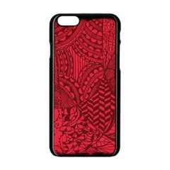 Deep Red Background Abstract Apple Iphone 6/6s Black Enamel Case