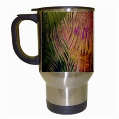 Abstract Brush Strokes In A Floral Pattern  Travel Mugs (white) by Simbadda