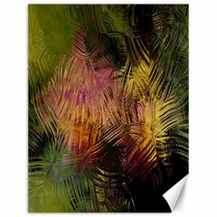 Abstract Brush Strokes In A Floral Pattern  Canvas 12  X 16   by Simbadda