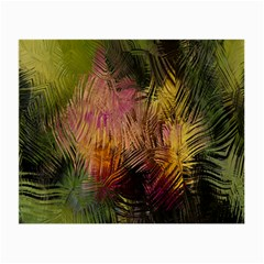 Abstract Brush Strokes In A Floral Pattern  Small Glasses Cloth (2 Side) by Simbadda