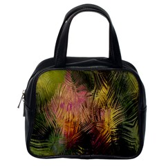 Abstract Brush Strokes In A Floral Pattern  Classic Handbags (one Side) by Simbadda