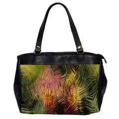 Abstract Brush Strokes In A Floral Pattern  Office Handbags (2 Sides)  by Simbadda
