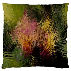 Abstract Brush Strokes In A Floral Pattern  Large Cushion Case (two Sides) by Simbadda