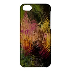 Abstract Brush Strokes In A Floral Pattern  Apple Iphone 5c Hardshell Case by Simbadda