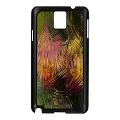 Abstract Brush Strokes In A Floral Pattern  Samsung Galaxy Note 3 N9005 Case (black) by Simbadda