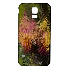 Abstract Brush Strokes In A Floral Pattern  Samsung Galaxy S5 Back Case (white) by Simbadda