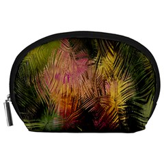 Abstract Brush Strokes In A Floral Pattern  Accessory Pouches (large)  by Simbadda