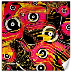 Abstract Clutter Pattern Baffled Field Canvas 16  X 16   by Simbadda