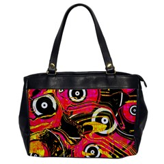 Abstract Clutter Pattern Baffled Field Office Handbags by Simbadda