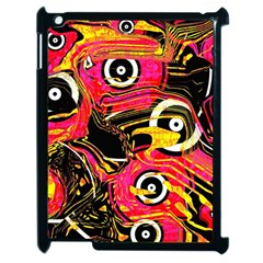 Abstract Clutter Pattern Baffled Field Apple Ipad 2 Case (black) by Simbadda