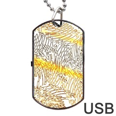 Abstract Composition Pattern Dog Tag Usb Flash (two Sides) by Simbadda