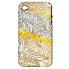 Abstract Composition Pattern Apple Iphone 4/4s Hardshell Case (pc+silicone)