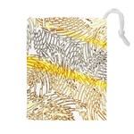 Abstract Composition Pattern Drawstring Pouches (Extra Large) Front