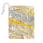Abstract Composition Pattern Drawstring Pouches (Extra Large) Back