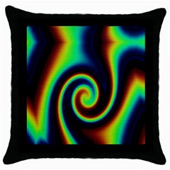 Background Colorful Vortex In Structure Throw Pillow Case (black) by Simbadda