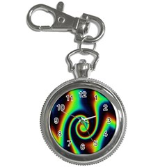Background Colorful Vortex In Structure Key Chain Watches